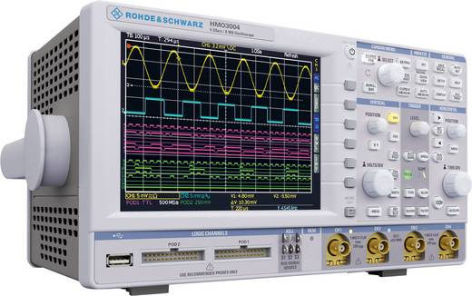 Digital-Oszilloskop Rohde & Schwarz HMO3054 500 MHz 4-Kanal 2 GSa/s 4 Mpts 8 Bit Kalibriert nach DAkkS Digital-Speicher