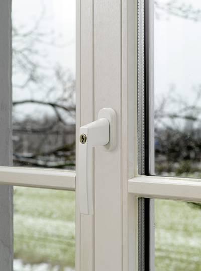 Maniglia con serratura per finestra Bianco ABUS ABFS59487
