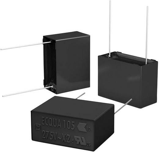 MKP-Folienkondensator radial bedrahtet 0.1 µF 275 V/AC 10 % 15 mm (L x B x H) 17.5 x 5 x 12 mm Panasonic ECQUAAF104KA 1000 St.