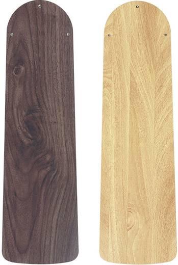 Deckenventilator CasaFan Eco Elements (Ø) 132 cm Flügelfarbe: Nussbaum, Buche Gehäusefarbe: Braun-antik