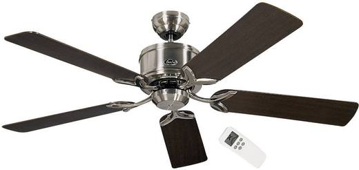Deckenventilator CasaFan Eco Elements (Ø) 132 cm Flügelfarbe: Wenge, Ahorn Gehäusefarbe: Chrom (gebürstet)