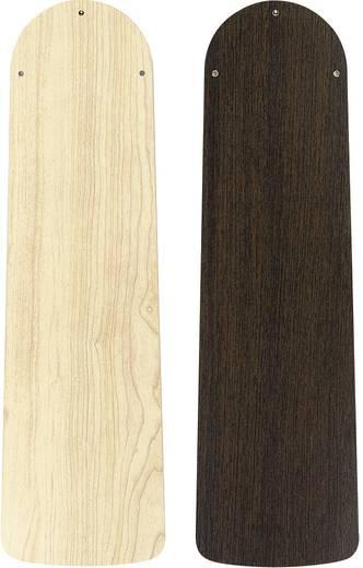 Deckenventilator CasaFan Eco Elements Wenge/ Ahorn (Ø) 132 cm Flügelfarbe: Wenge, Ahorn Gehäusefarbe: Chrom (gebürstet)