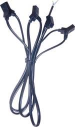 Câble de connexion pour ventilateur 4 sorties Wallair N40986 noir