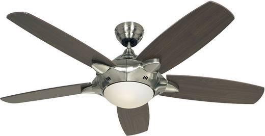 Deckenventilator CasaFan Deckenventilator Mercury (Ø) 132 cm Flügelfarbe: Nussbaum, Silber Gehäusefarbe: Chrom (gebürstet)