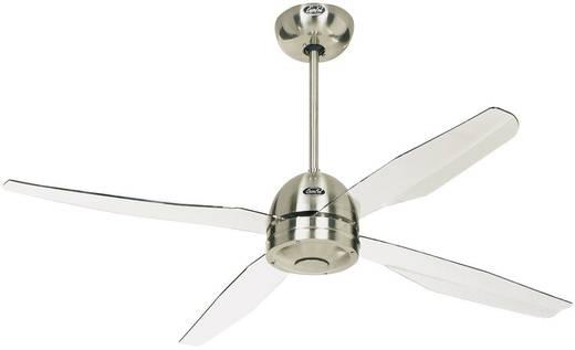 Deckenventilator CasaFan Libelle (Ø) 132 cm Flügelfarbe: Transparent Gehäusefarbe: Chrom (gebürstet)