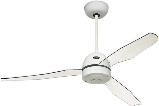 CasaFan Libelle Deckenventilator (Ø) 132 cm Flügelfarbe: Transparent Gehäusefarbe: Lack-Weiß