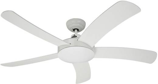 CasaFan Falcetto WE Deckenventilator (Ø) 132 cm Flügelfarbe: Weiß Gehäusefarbe: Weiß