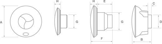 Wand- und Deckenlüfter 230 V 118 m³/h 15 cm WAND- UND DECKENLÜFTER ICON 150 MM