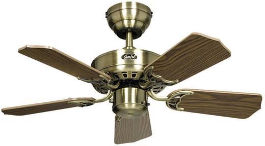 CasaFan Classic Royal 75 MA Deckenventilator (Ø) 75 cm Flügelfarbe: Eiche-antik Gehäusefarbe: Messing