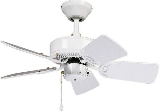 CasaFan Classic Royal 75 WE Deckenventilator (Ø) 75 cm Flügelfarbe: Weiß Gehäusefarbe: Weiß