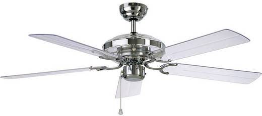 Deckenventilator CasaFan Acrylic (Ø) 132 cm Flügelfarbe: Acrylglas klar Gehäusefarbe: Chrom