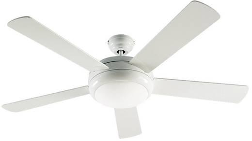 CasaFan Titanium WE Deckenventilator (Ø) 132 cm Flügelfarbe: Weiß (glänzend) Gehäusefarbe: Weiß