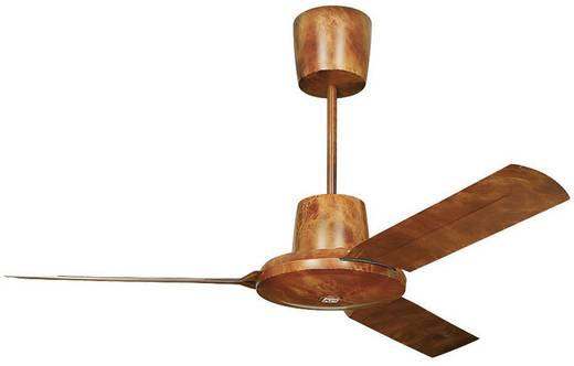 Deckenventilator Vortice Nordik Evolution 120 WG (Ø) 122 cm Flügelfarbe: Wurzelholz Gehäusefarbe: Wurzelholz