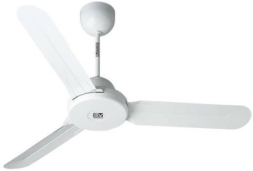 Deckenventilator Vortice Nordik Design 1S 120 WE (Ø) 122 cm Flügelfarbe: Weiß Gehäusefarbe: Weiß