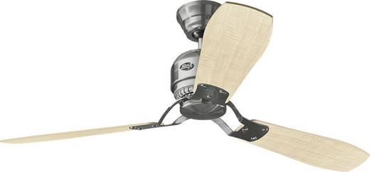 Hunter Tribeca BN Deckenventilator (Ø) 152 cm Flügelfarbe: Grau, Ahorn Gehäusefarbe: Chrom (gebürstet)