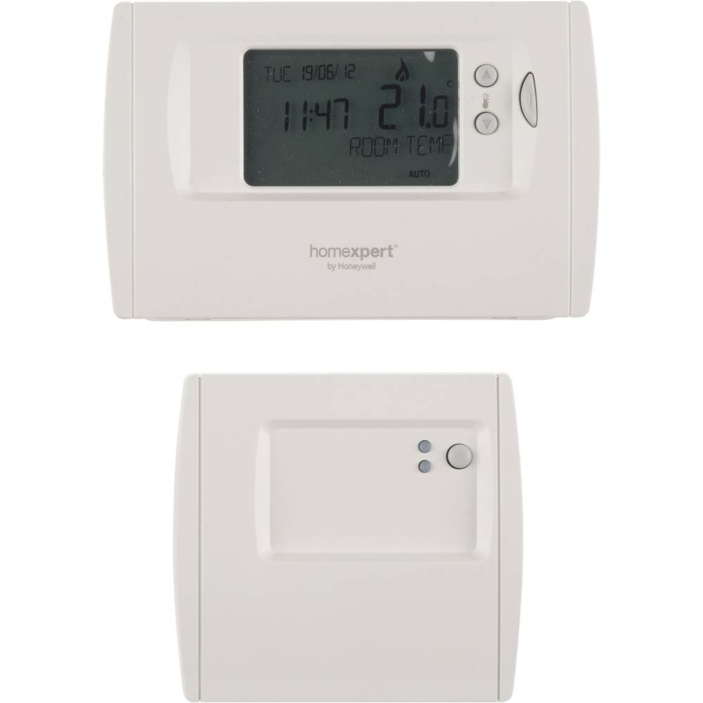 Thermostat sans fil en saillie homexpert by honeywell programme hebdomadaire - Thermostat d ambiance programmable sans fil ...