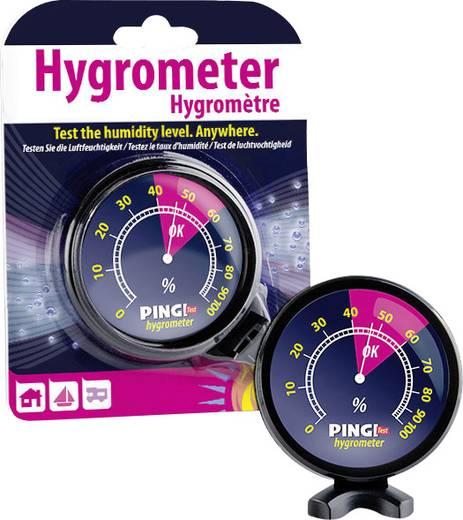 Freistehend Hygrometer PHT-100-EDFN Schwarz