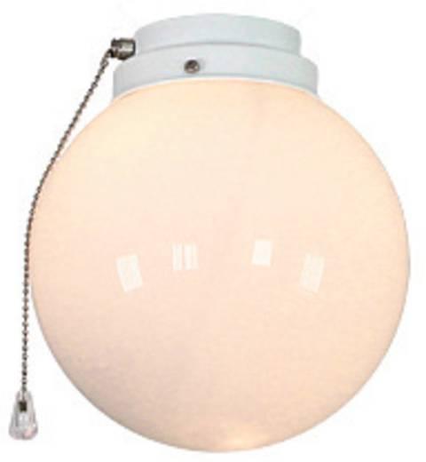 Deckenventilator-Leuchte CasaFan 1K WE KUGEL Opalglas (glänzend)