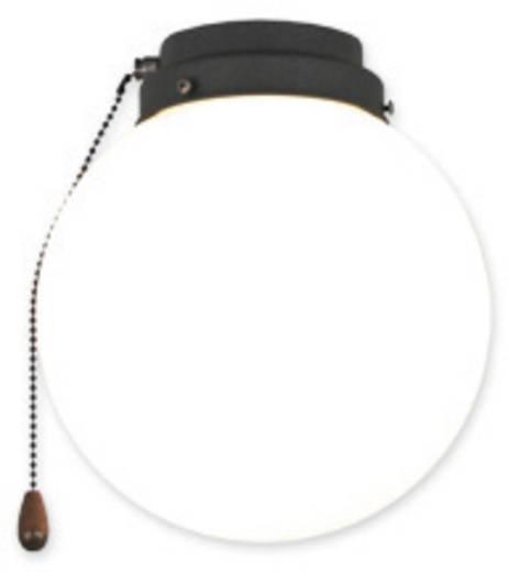 Deckenventilator-Leuchte CasaFan 1K GR KUGEL Opalglas (glänzend)