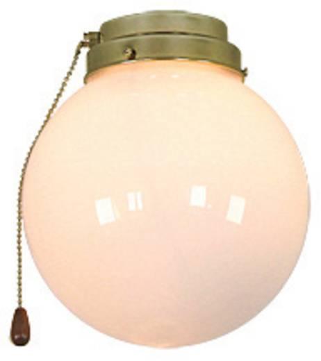 Deckenventilator-Leuchte CasaFan 1K MP KUGEL Opalglas (glänzend)