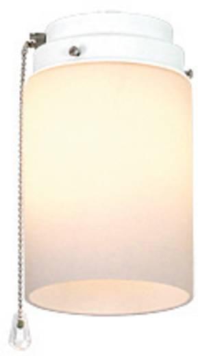 Deckenventilator-Leuchte CasaFan 1Z WE ZYLINDER OFFEN Opalglas (matt)
