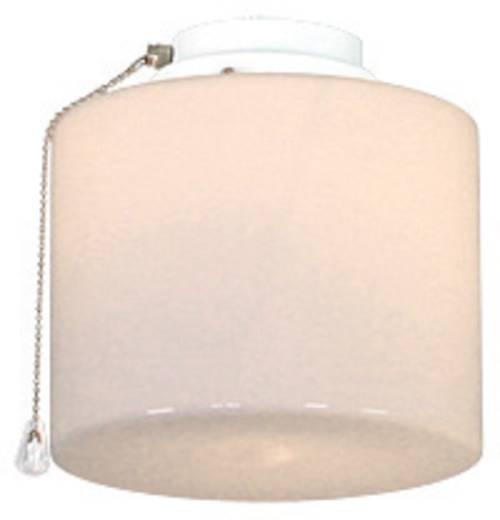 Deckenventilator-Leuchte CasaFan 1B WE ZYLINDER GESCHL. Opalglas (glänzend)