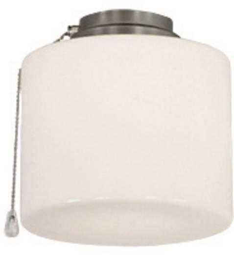 Deckenventilator-Leuchte CasaFan 1B BN ZYLINDER GESCHL. Opalglas (glänzend)
