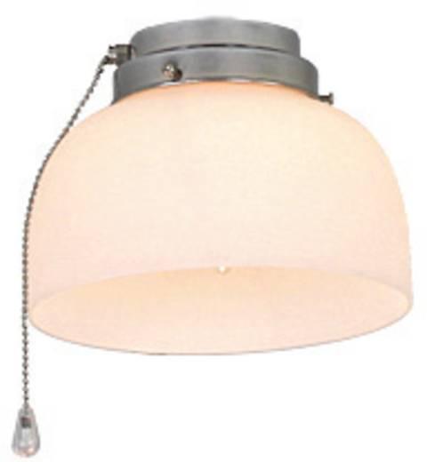 Deckenventilator-Leuchte CasaFan 8-II CH HALBKUGEL OFFEN Glas matt
