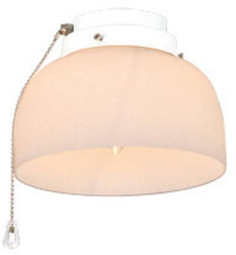Deckenventilator-Leuchte CasaFan 8-II WE HALBKUGEL OFFEN Glas matt