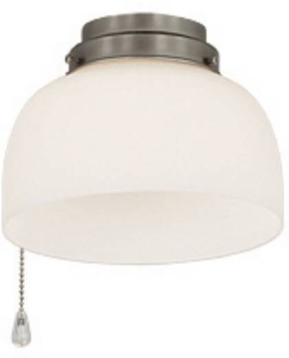Deckenventilator-Leuchte CasaFan 8-II BN HALBKUGEL OFFEN Glas matt