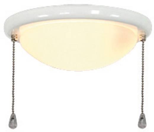 Deckenventilator-Leuchte CasaFan 15R WE VLAKKE KAP Opalglas (matt)