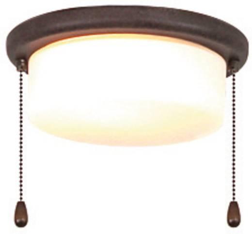 Deckenventilator-Leuchte CasaFan 15Z BA FLACHER ZYLINDER Opalglas (matt)