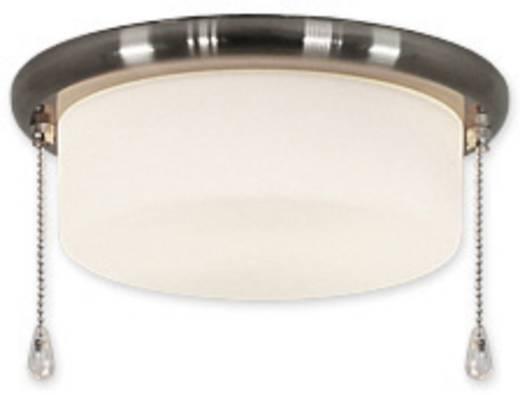 Deckenventilator-Leuchte CasaFan 15Z BN FLACHER ZYLINDER Opalglas (matt)