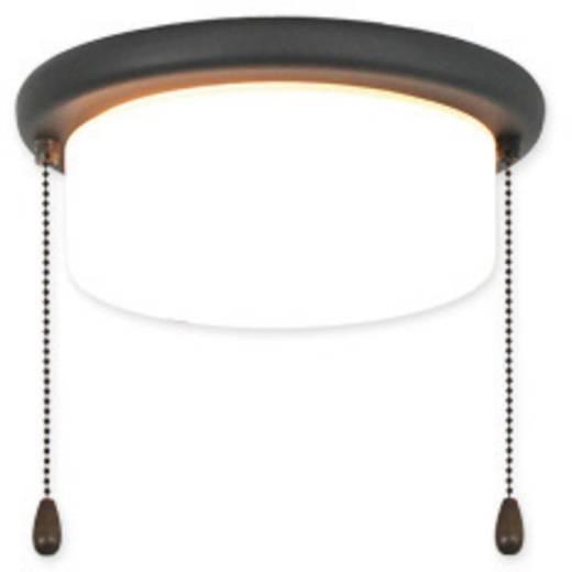 Deckenventilator-Leuchte CasaFan 15Z GR FLACHER ZYLINDER Opalglas (matt)
