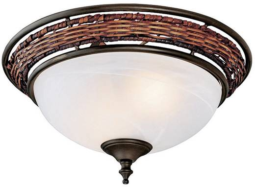 Deckenventilator-Leuchte Hunter LAMP WICKER BOWL VB Opalglas (matt)