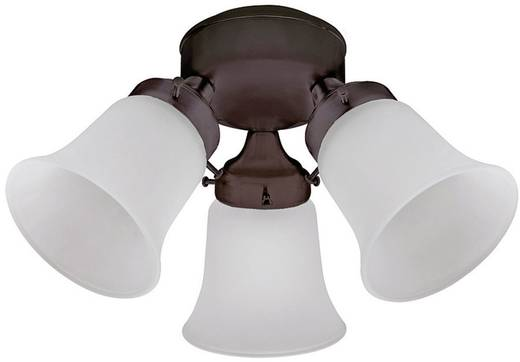 Deckenventilator-Leuchte Hunter 3 LIGHT FLUSH MOUNT MA Glas matt