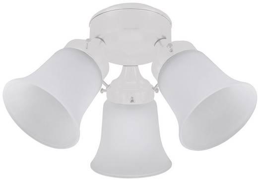 Deckenventilator-Leuchte Hunter LEUCHTE 3 LIGHT FLUSH MOUNT WE Glas matt