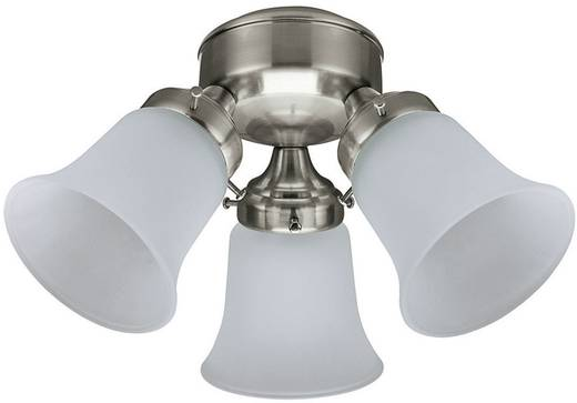 Deckenventilator-Leuchte Hunter 3 LIGHT FLUSH MOUNT BN Glas matt