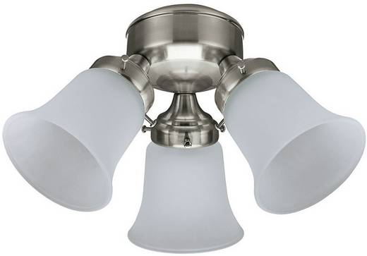 Deckenventilator-Leuchte Hunter LEUCHTE 3 LIGHT FLUSH MOUNT BN Glas matt