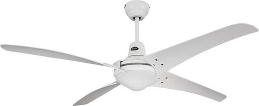 CasaFan Mirage Deckenventilator (Ø) 142 cm Flügelfarbe: Weiß Gehäusefarbe: Chrom (gebürstet)