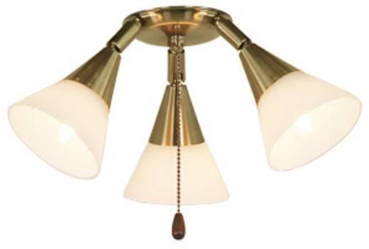 Deckenventilator-Leuchte CasaFan 16 MA 3 SPOTS Opalglas