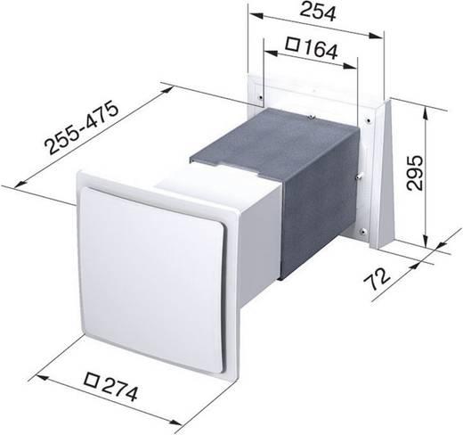 Lüftungsgerät mit Wärmerückgewinnung 58 m³/h SIKU Twin Fresh SA 60 30395