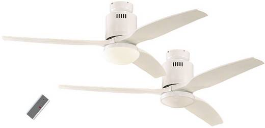 Deckenventilator CasaFan AERODYNAMIX WE M. FLÜGEL LACK WEIß (Ø) 132 cm Flügelfarbe: Weiß Gehäusefarbe: Lack-Weiß