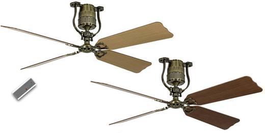 Deckenventilator CasaFan ROADHOUSE 152 MA 4 FLÜGEL KIRSCHB./BUCHE (Ø) 152 cm Flügelfarbe: Kirschbaum, Buche Gehäusefarbe: Messing-antik