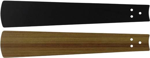 Deckenventilator-Flügelsatz CasaFan Bladen zwart/teak 103 Flügeldekor: Schwarz, Teak
