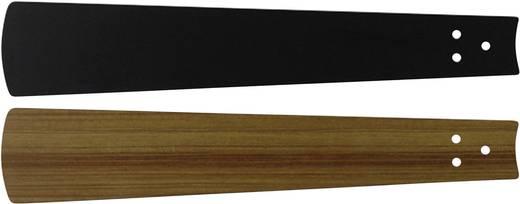 Deckenventilator-Flügelsatz CasaFan Bladen zwart/teak 132 Flügeldekor: Schwarz, Teak