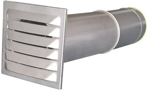 Energiespar-Mauerkasten Edelstahl Passend für Rohr-Durchmesser: 15 cm Wallair N37888
