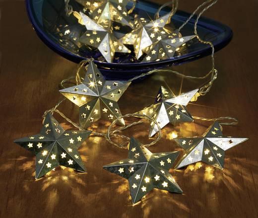 05-c080 Motiv-Lichterkette Sterne 10 LED Warm-Weiß Beleuchtete Länge: 2.7 m