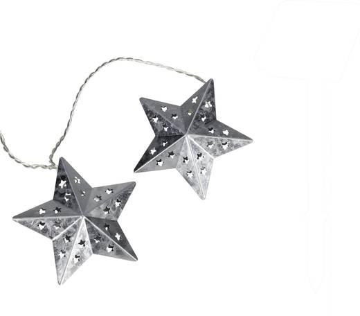 Motiv-Lichterkette Sterne Innen netzbetrieben 10 LED Warm-Weiß Beleuchtete Länge: 2.7 m 05-c080