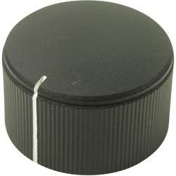 Otočný gombík Cliff FC7253, (Ø x v) 25 mm x 15 mm, čierna, 1 ks